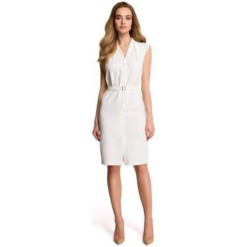 Oblečenie Ženy Mikiny Style S102 Košeľové šaty bez rukávov - ecru