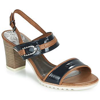 Topánky Ženy Sandále Marco Tozzi TRELEME Ťavia hnedá / Námornícka modrá