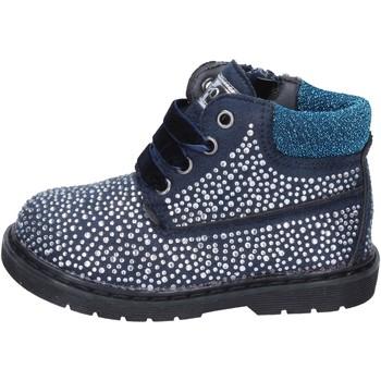 Topánky Dievčatá Čižmičky Asso Členkové Topánky BT297 Modrá