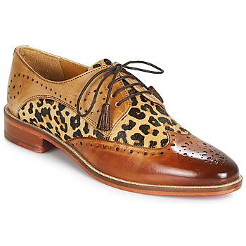 Topánky Ženy Derbie Melvin & Hamilton BETTY-4 Hnedá / Leopard