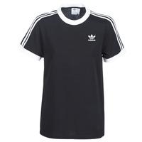 Oblečenie Ženy Tričká s krátkym rukávom adidas Originals 3 STRIPES TEE Čierna