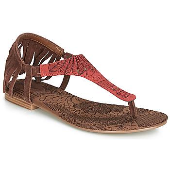 Topánky Ženy Sandále Desigual SHOES_LUPITA_LOTTIE Koňaková / Červená
