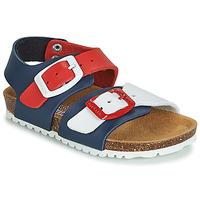 Topánky Deti Sandále Garvalin BIO  BOY Námornícka modrá / Červená / Biela