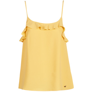 Oblečenie Ženy Tielka a tričká bez rukávov Les Petites Bombes AZITAFE Žltá