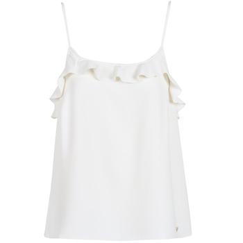 Oblečenie Ženy Tielka a tričká bez rukávov Les Petites Bombes AZITAFE Biela