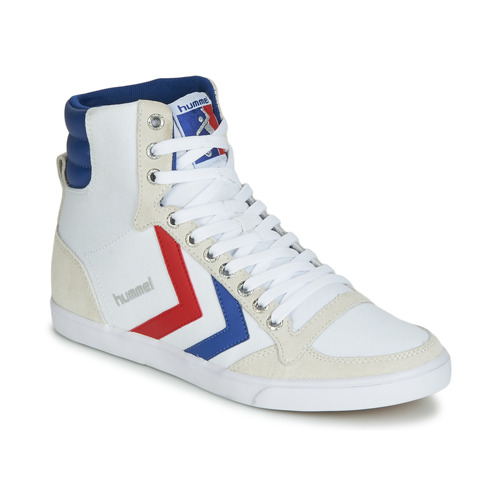 Topánky Členkové tenisky Hummel TEN STAR HIGH CANVAS Biela