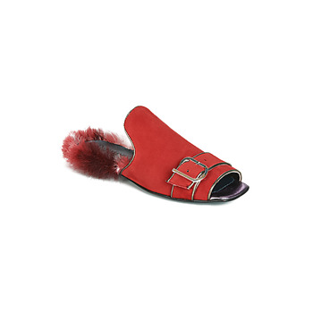 Topánky Ženy Šľapky Papucei OBSENTUM Červená