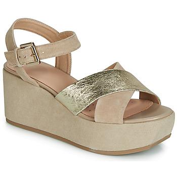 c2a667907c18 Topánky Ženy Sandále Geox D ZERFIE Zlatá   Hnedošedá