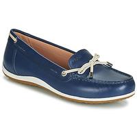 Topánky Ženy Mokasíny Geox D VEGA MOC Modrá / Svetlá telová