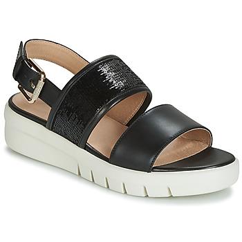 Topánky Ženy Sandále Geox D WIMBLEY SANDAL Čierna