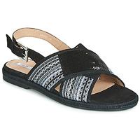 Topánky Ženy Sandále Geox D KOLEEN Čierna