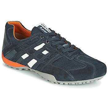 Topánky Muži Nízke tenisky Geox UOMO SNAKE Námornícka modrá