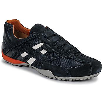 Topánky Muži Nízke tenisky Geox UOMO SNAKE Modrá / Čierna