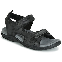 Topánky Muži Športové sandále Geox UOMO SANDAL STRADA Čierna