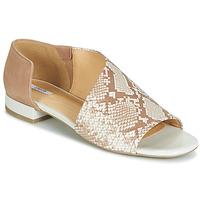 Topánky Ženy Sandále Geox D WISTREY SANDALO Béžová / Hadí vzor