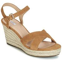 Topánky Ženy Sandále Geox D SOLEIL Ťavia hnedá