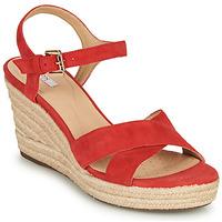 Topánky Ženy Sandále Geox D SOLEIL Červená / Koralová