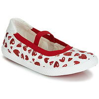Topánky Dievčatá Balerínky a babies Geox J KILWI GIRL Biela / Červená