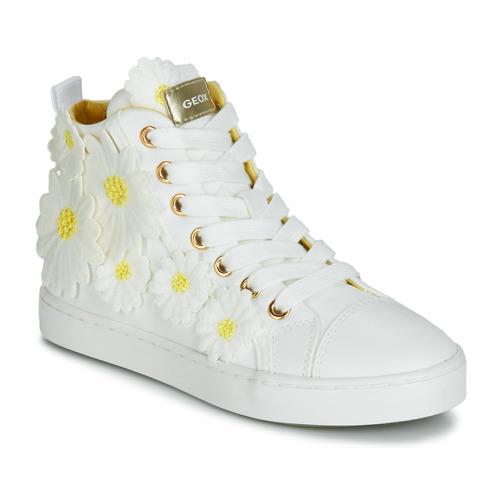 af9b5f444dff Topánky Dievčatá Členkové tenisky Geox JR CIAK GIRL Biela   Kvetovaná   Žltá