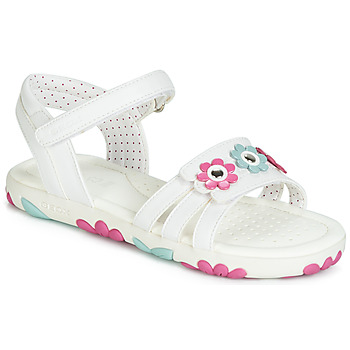 Topánky Dievčatá Sandále Geox J SANDAL HAITI GIRL Biela