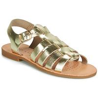 Topánky Dievčatá Sandále Geox J SANDAL VIOLETTE GI Zlatá