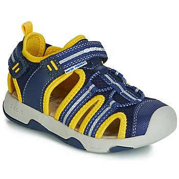 Topánky Chlapci Sandále Geox B SANDAL MULTY BOY Modrá / Žltá