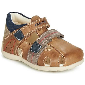 Topánky Chlapci Sandále Geox B KAYTAN Hnedá