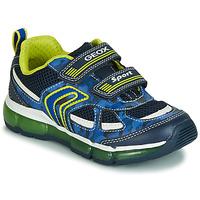 Topánky Chlapci Nízke tenisky Geox J ANDROID BOY Námornícka modrá / Žltá / Led
