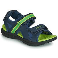 Topánky Chlapci Športové sandále Geox J GLEEFUL BOY Modrá / Žltá
