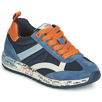 Topánky Chlapci Nízke tenisky Geox J ALBEN BOY Námornícka modrá / Oranžová