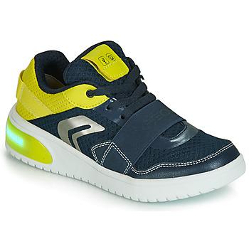 Topánky Chlapci Nízke tenisky Geox J XLED BOY Modrá / Žltá / Led