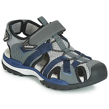 Topánky Chlapci Športové sandále Geox J BOREALIS BOY Šedá / Námornícka modrá