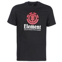 Oblečenie Muži Tričká s krátkym rukávom Element VERTICAL SS Čierna