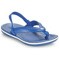 Topánky Deti Žabky Crocs CROCBAND STRAP FLIP K Modrá