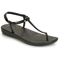 Topánky Ženy Žabky FitFlop IQUSHION SPLASH - PEARLISED Čierna