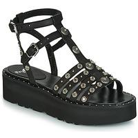 Topánky Ženy Sandále Fru.it 5433-476 Čierna