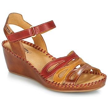 Topánky Ženy Sandále Pikolinos MARGARITA 943 Červená / Hnedá