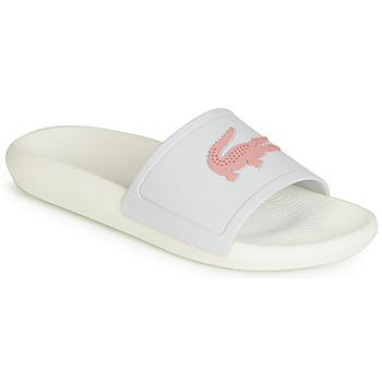 Topánky Ženy športové šľapky Lacoste CROCO SLIDE 119 3 Biela / Ružová