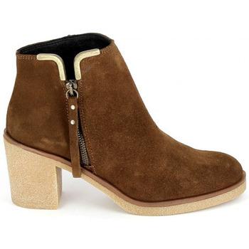 Topánky Ženy Čižmičky Porronet Boots 4032 Marron Hnedá