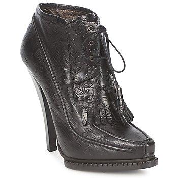 Topánky Ženy Čižmičky Roberto Cavalli QDS640-PZ030 Čierna