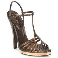 Topánky Ženy Sandále Roberto Cavalli QDS627-PM027 Bronzová
