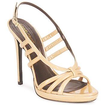 Topánky Ženy Sandále Roberto Cavalli QDS626-PL028 Béžová