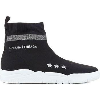Topánky Ženy Členkové tenisky Chiara Ferragni CF1948 BLACK nero