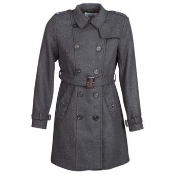 Oblečenie Ženy Kabáty Casual Attitude HAIELLI Šedá