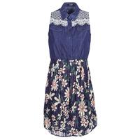 Oblečenie Ženy Krátke šaty Desigual ALOHA Námornícka modrá