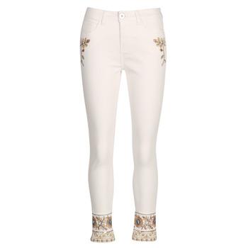 Oblečenie Ženy Rovné džínsy Desigual SARI WHITE Námornícka modrá
