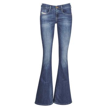 Oblečenie Ženy Džínsy Bootcut Diesel EBBEY Modrá