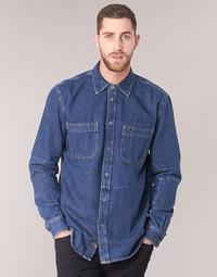 Oblečenie Muži Košele s dlhým rukávom Diesel D FRED Modrá