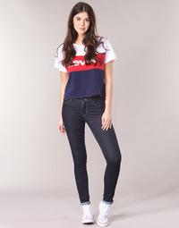 Oblečenie Ženy Džínsy Skinny Levi's 711 SKINNY To / Čajová hnedá / Nine