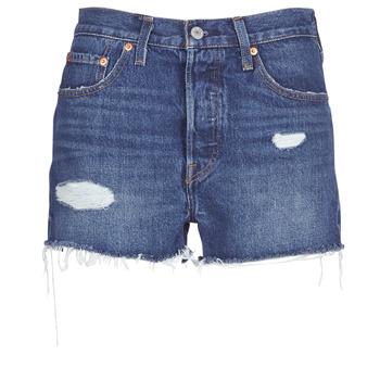 Oblečenie Ženy Šortky a bermudy Levi's 502 HIGH RISE SHORT Modrá / Medium